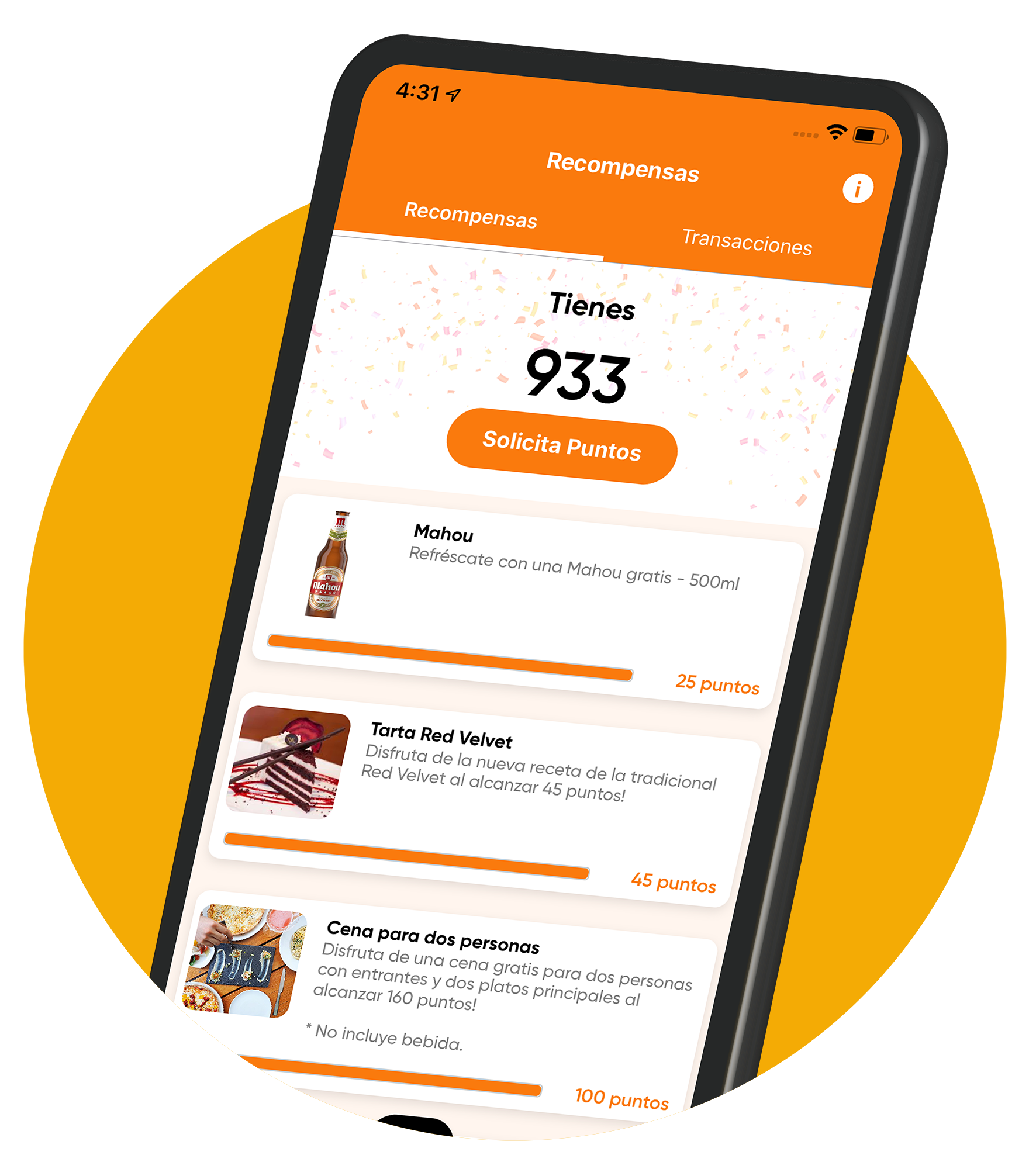 demo of own app personalised for online ordering